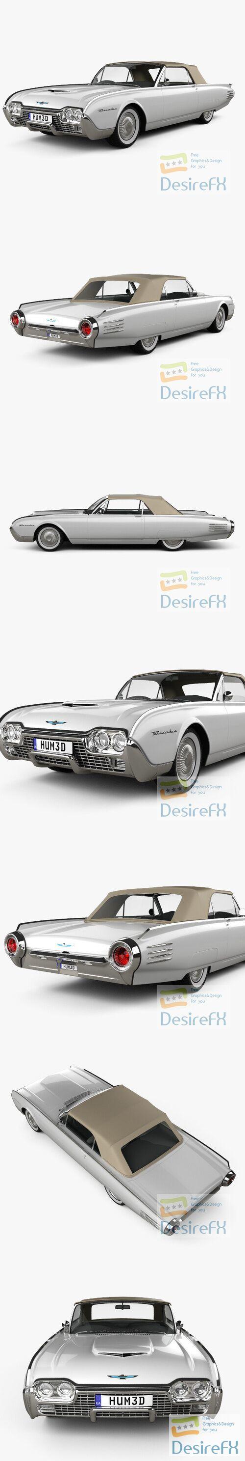 Ford Thunderbird 1961 3D Model