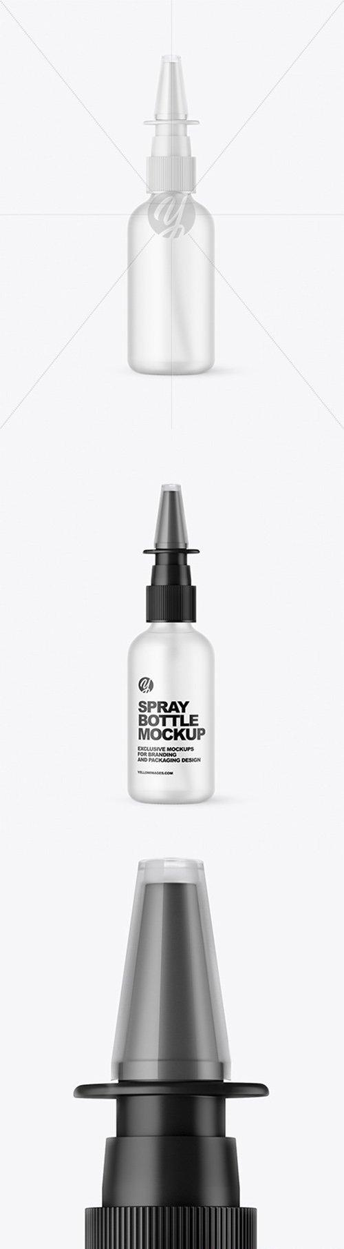 Frosted Glass Nasal Spray Bottle Mockup 66528