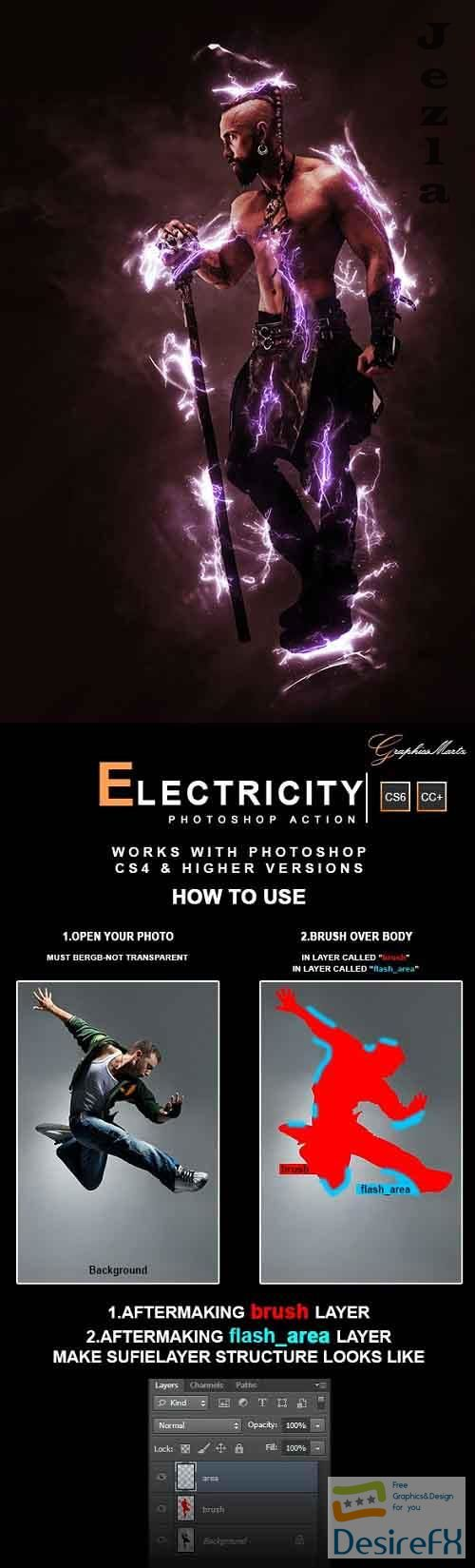 GraphicRiver - Electricity Photoshop Action 28441466