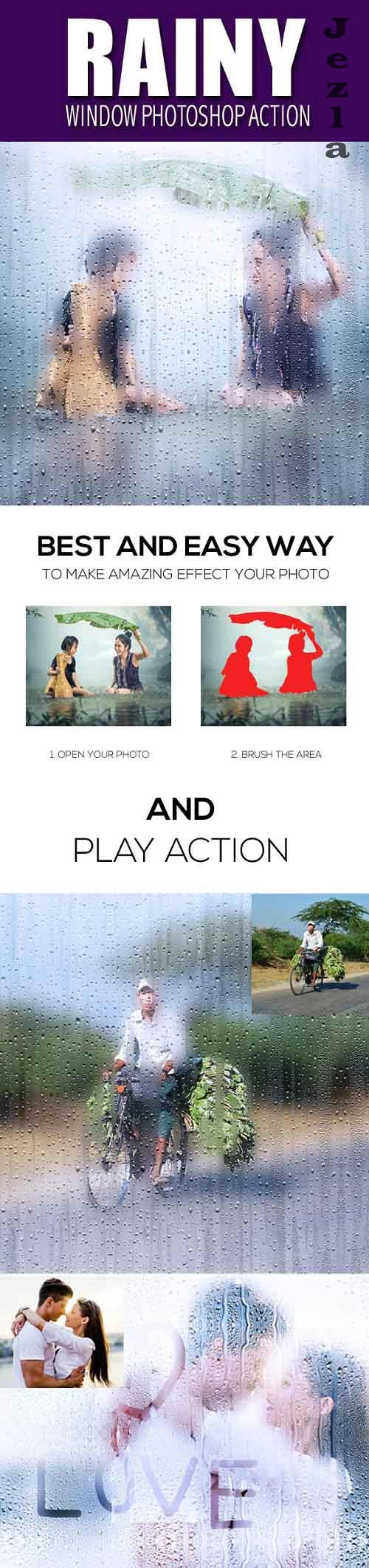 GraphicRiver - Rainy Window Photoshop Action 20178712