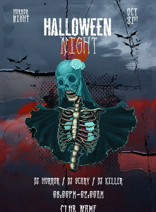 Halloween Night Flyer Template PSD