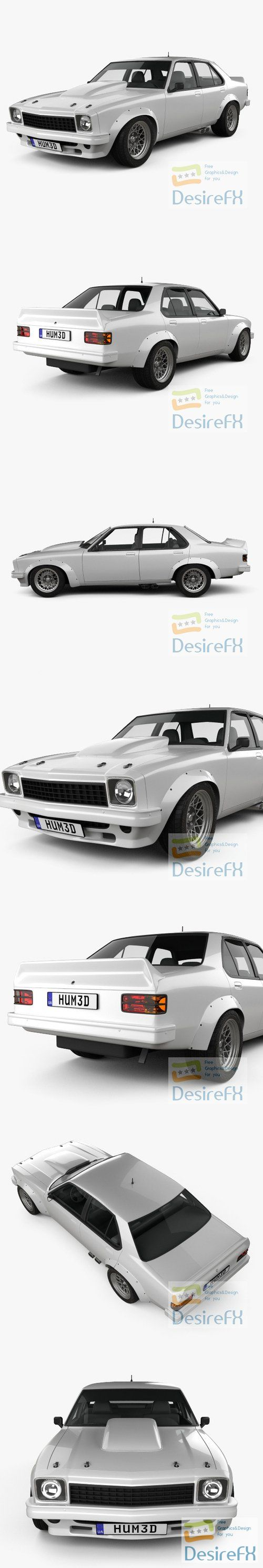 Holden Torana 4-door Race Car 1977 3D Model