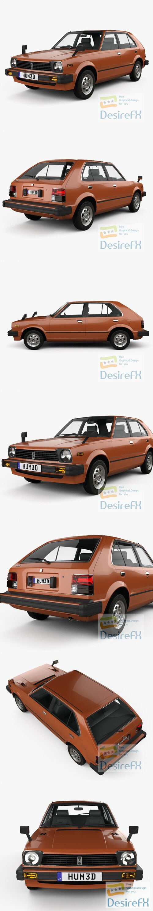 Honda Civic 1979 3D Model
