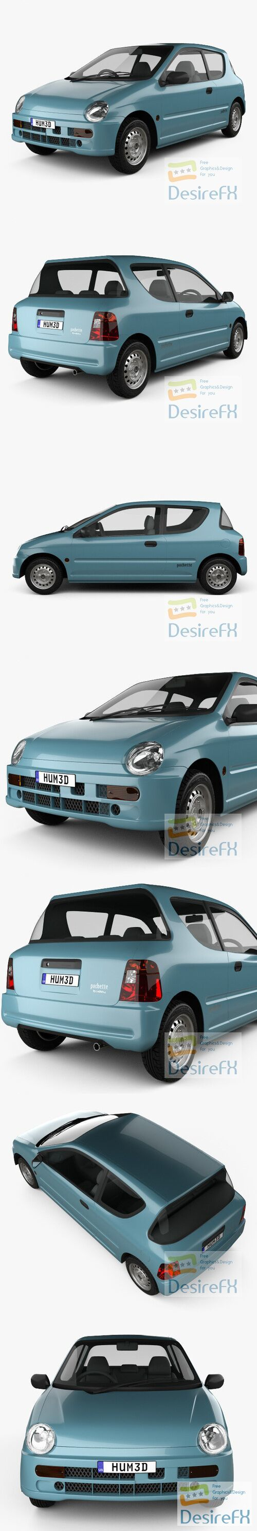 Honda Today 1996 3D Model