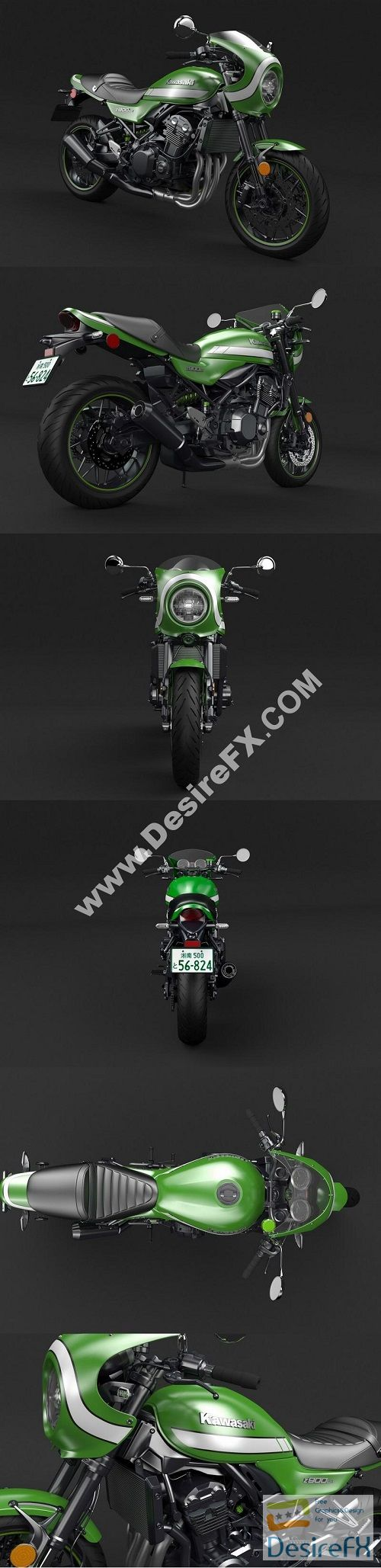 Kawasaki Z900RS 2019 3D Model