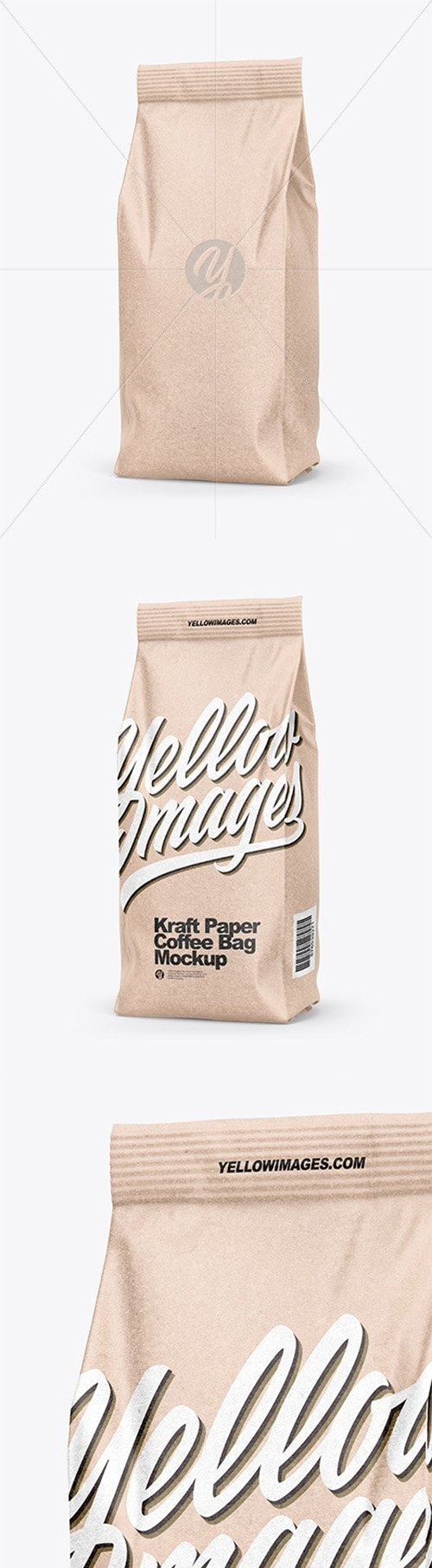 Kraft Coffee Bag Mockup - Half Side View 66451