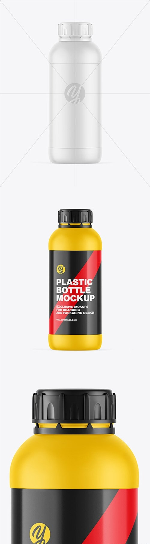 Matte Plastic Bottle Mockup 66467