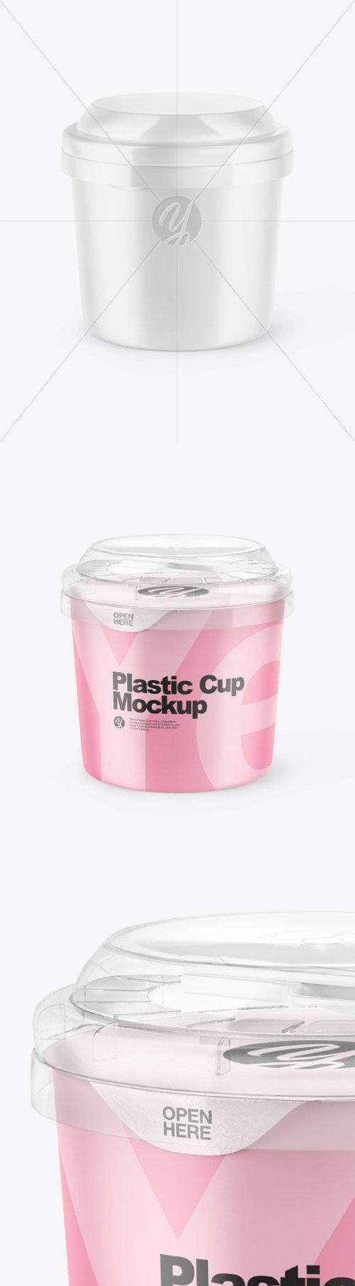 Matte Plastic Cup Mockup 66430