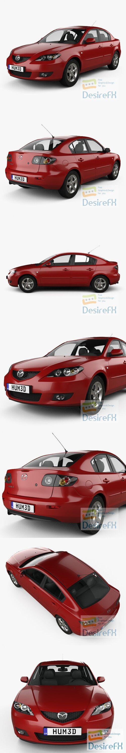 Mazda 3 sedan 2003 3D Model