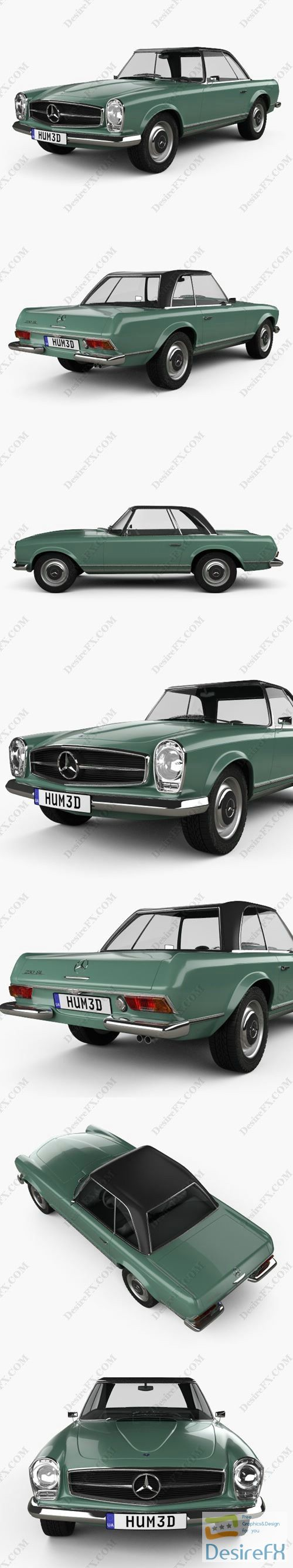 Mercedes-Benz SL-class 1963 3D Model