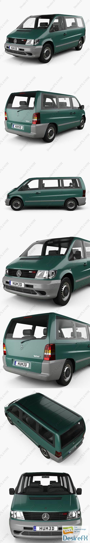 Mercedes-Benz Vito Passenger Van 1996 3D Model