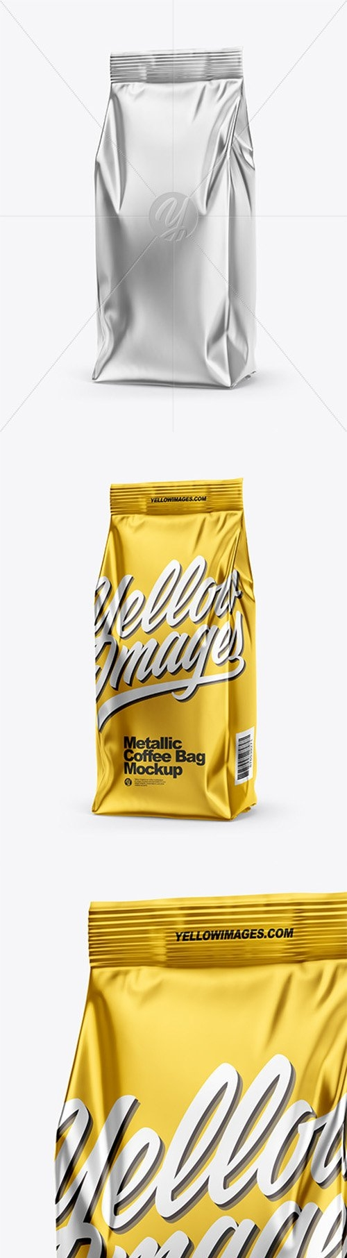 Metallic Coffee Bag Mockup - Half Side View 66549