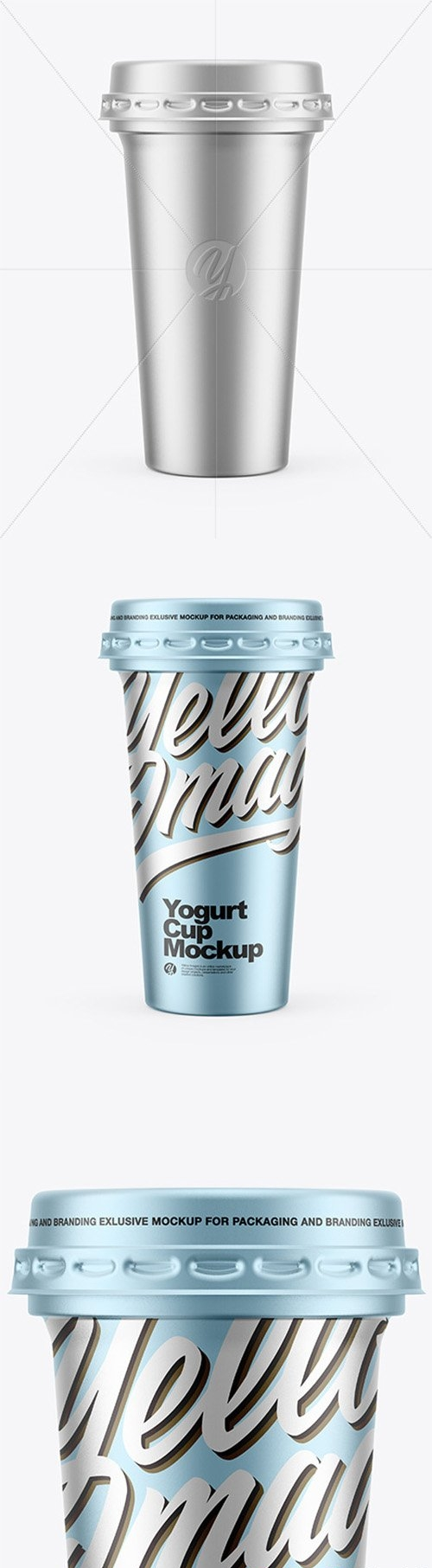 Metallic Yogurt Cup Mockup 65831