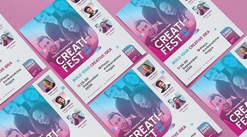 Modern Geometric Creative Business V2 - Flyer