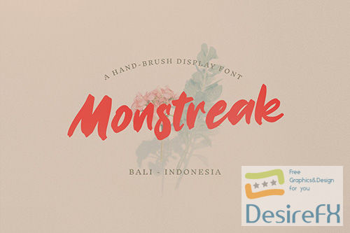Monstreak  Display Brush Font