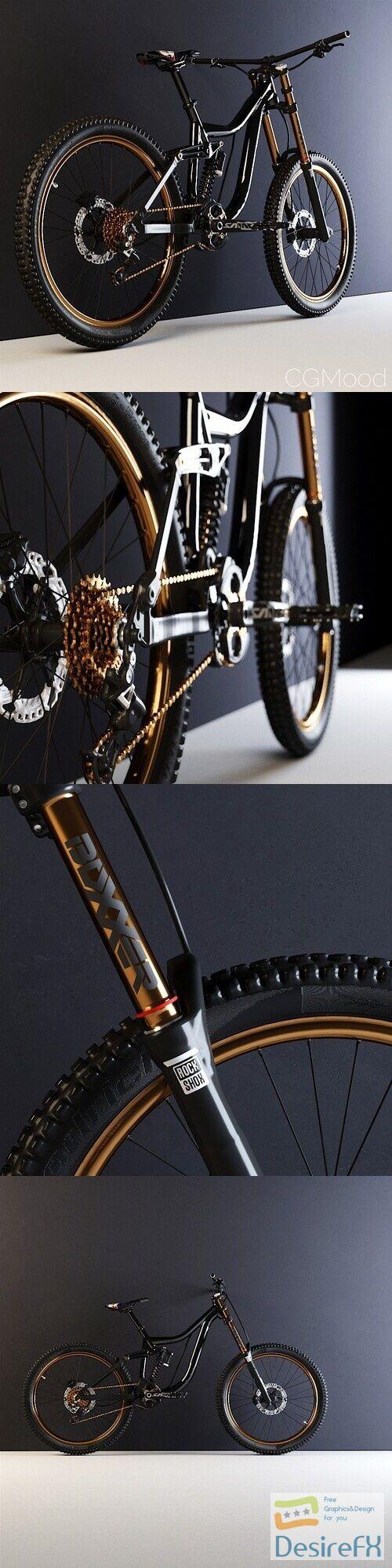 MTB Downhill Bike 3D Model