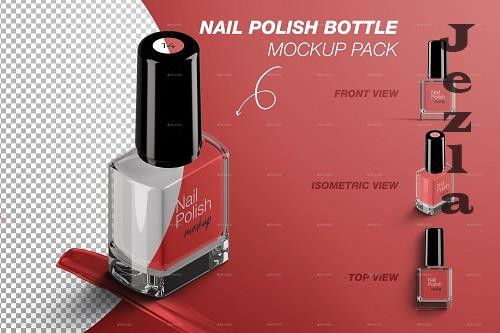 Nail Polish Bottle Mockup Pack 28766844