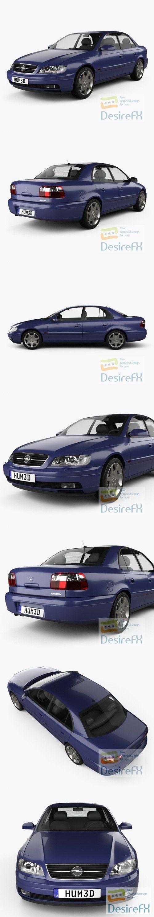 Opel Omega B sedan 1999 3D Model