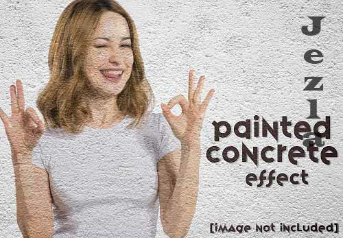 Painted Concrete Photo Effect