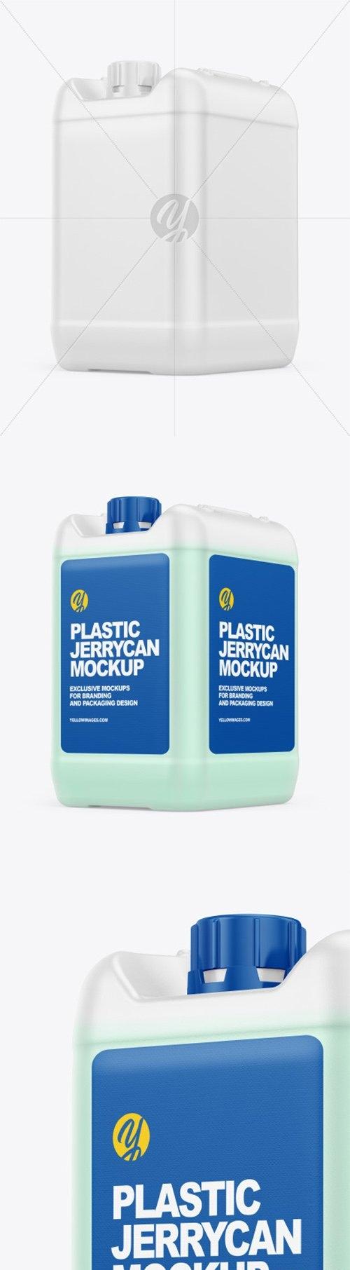 Plastic Jerrycan with Liquid Mockup 66512