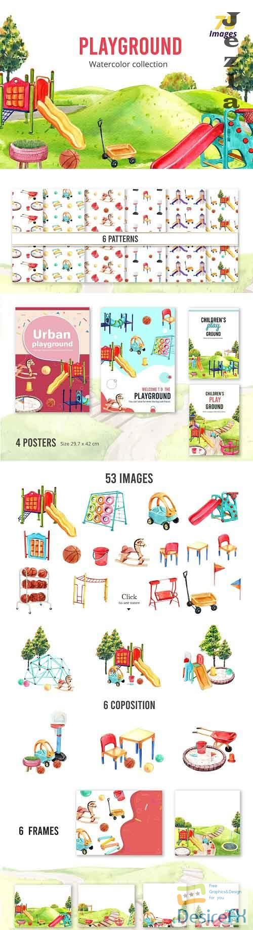 Playground Watercolor Collection - 5529626