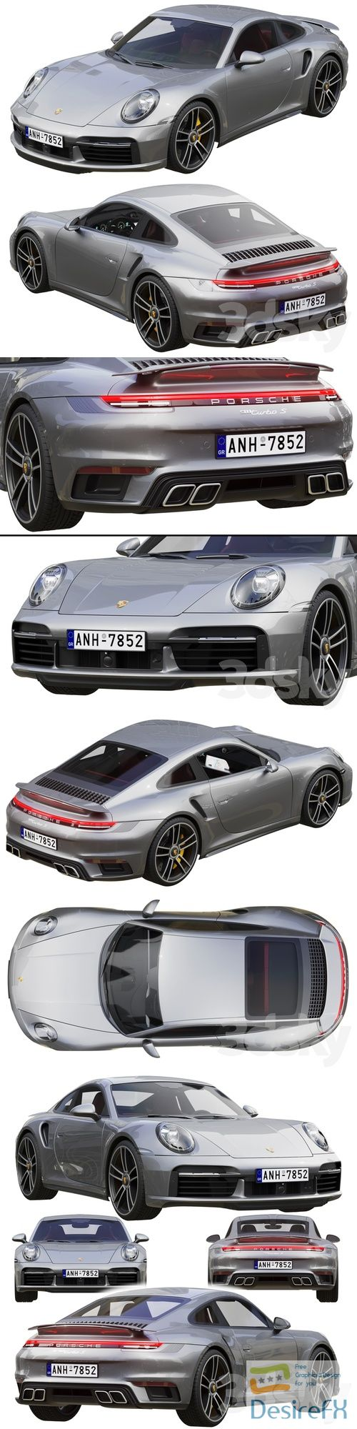 Porsche 911 Turbo S 2021 3D Model