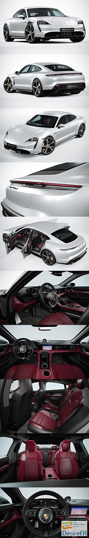 Porsche Taycan 2020 3D Model