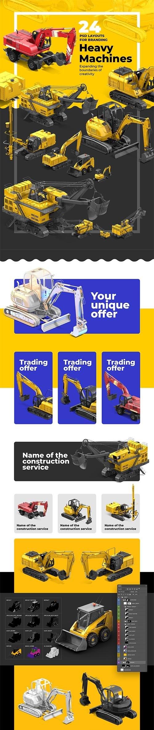 PSD Heavy Machines Mockup 360 PRO #03 68166