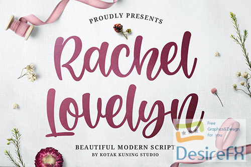 Rachel Lovelyn - Beautiful Script Font
