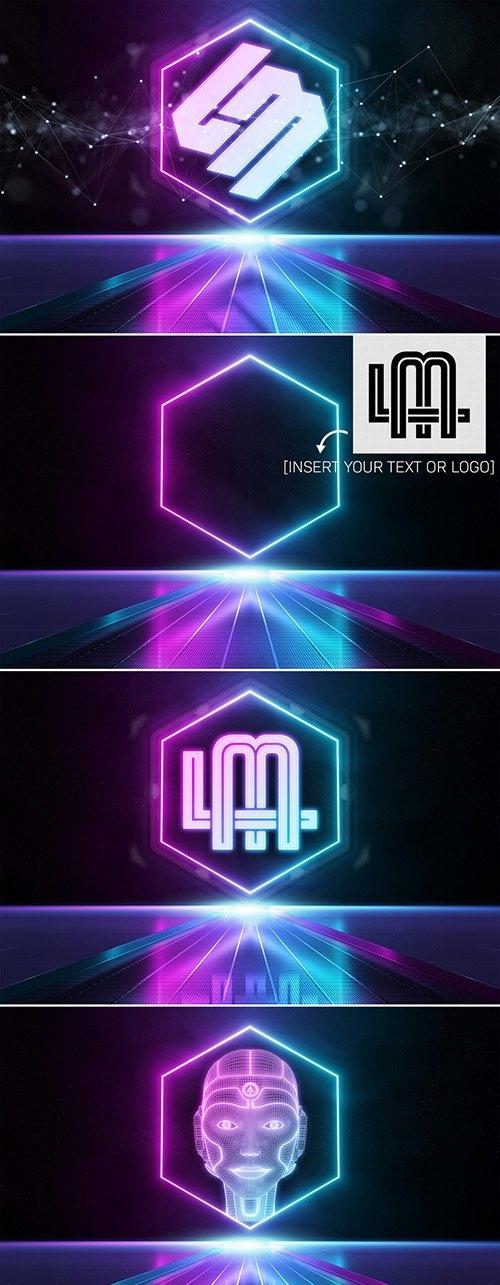 Reflective Neon Logo Mockup 333527293