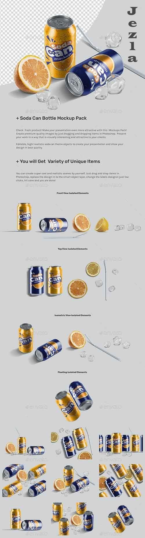 Soda Can Mockup Pack 26857279