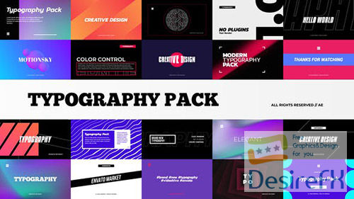 Stylish Typography Pack 29014567