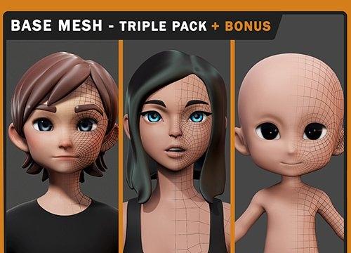 Stylized Basemesh Triple Pack