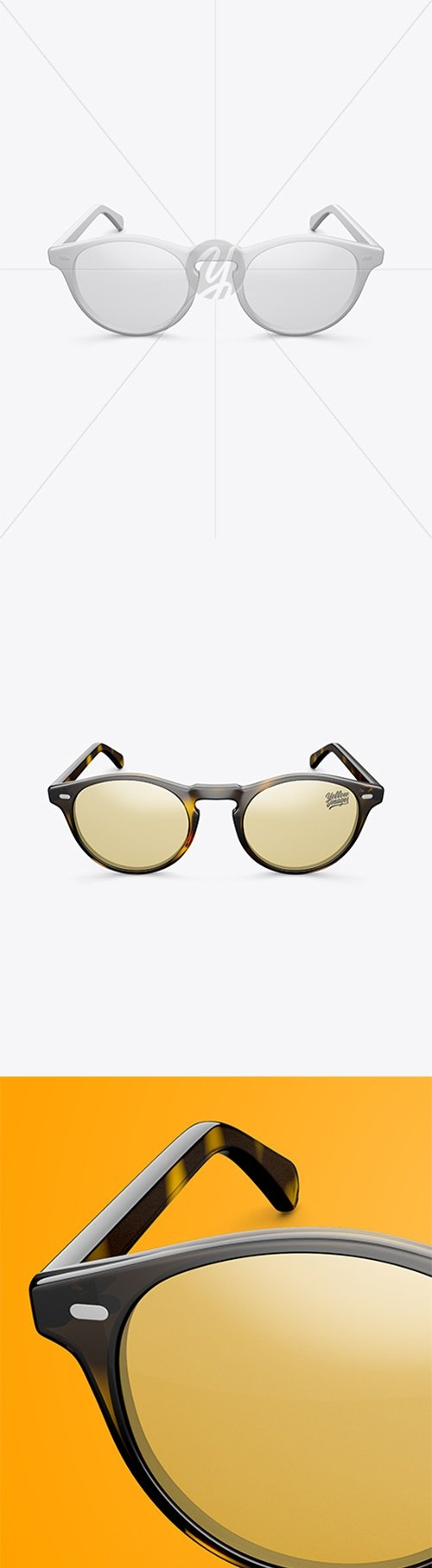 Sunglasses Mockup - Front View (High Angle Shot) 27660