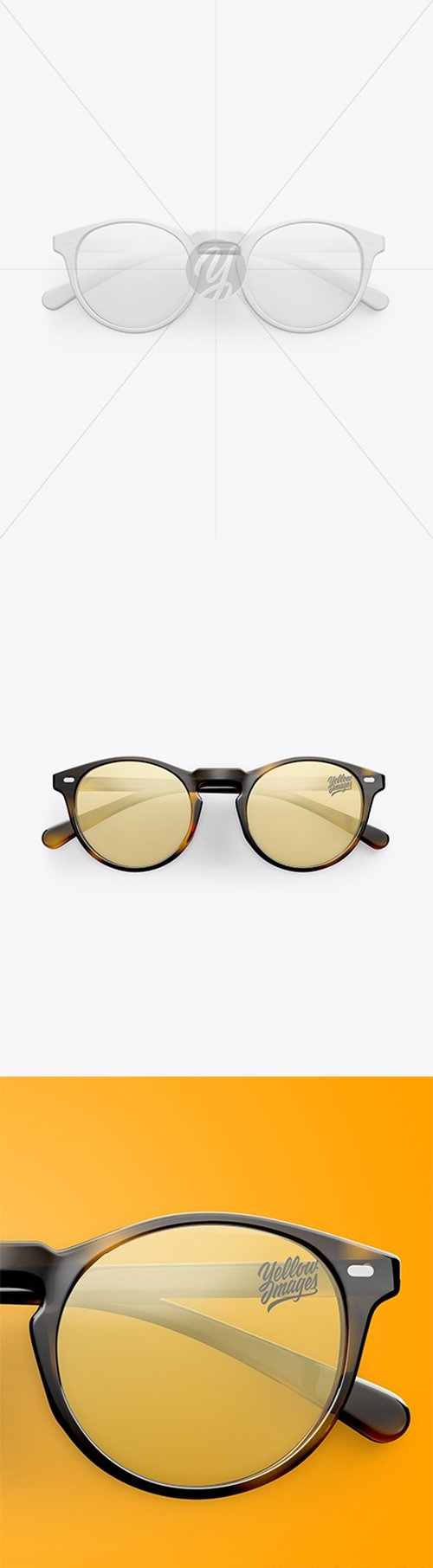 Sunglasses Mockup - Top View 27693