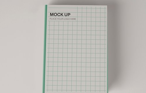Top View of Two Hardcover Books Mockup 346305010