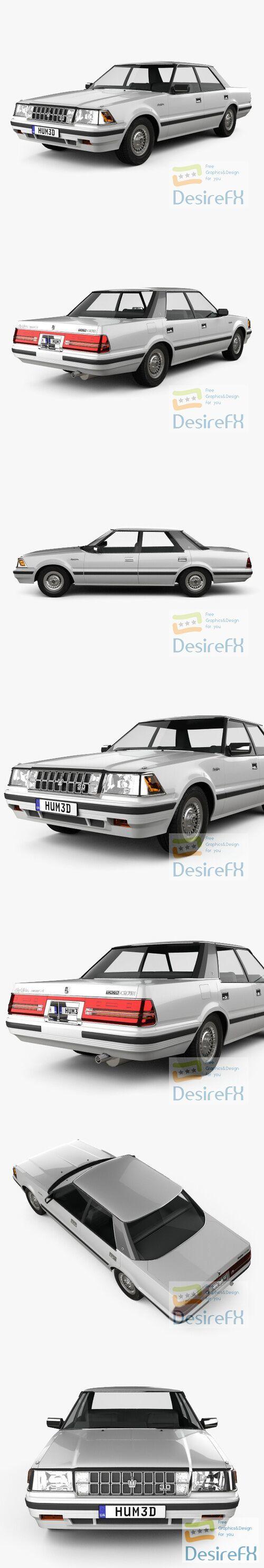 Toyota Crown Royal Saloon 1983 3D Model