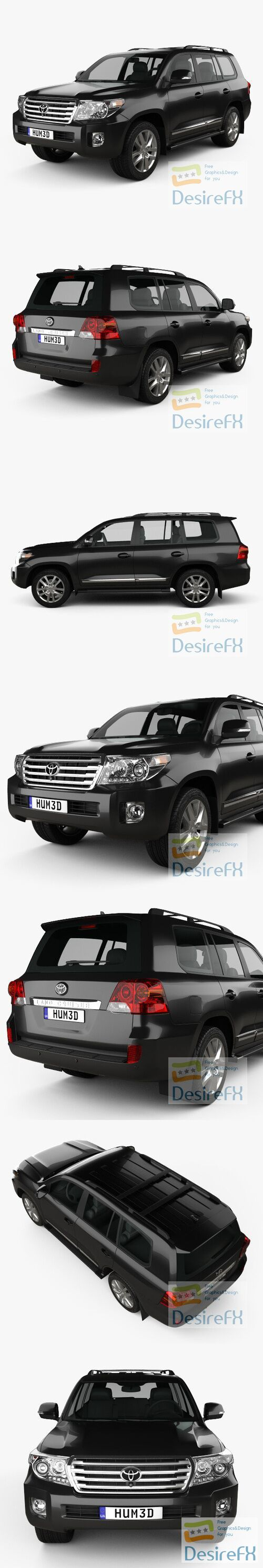 Toyota Land Cruiser J200 2013 3D Model