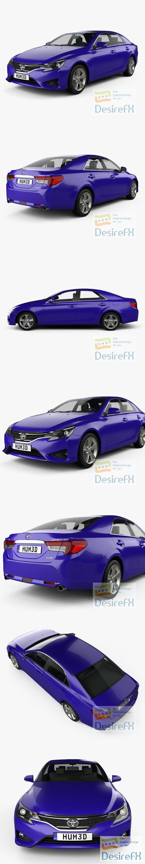 Toyota Mark X (Reiz) 2012 3D Model