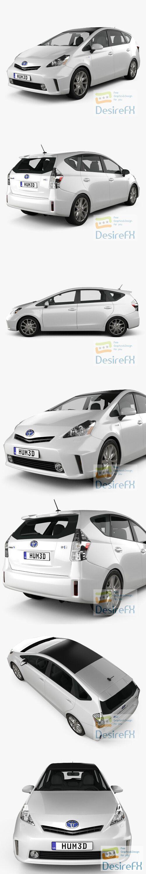 Toyota Prius V 2011 3D Model