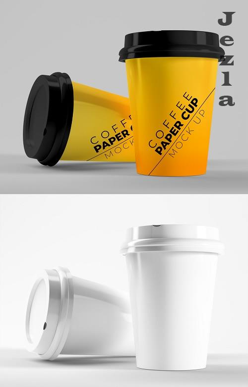 Two Paper Coffee Cups Mockup 385835807