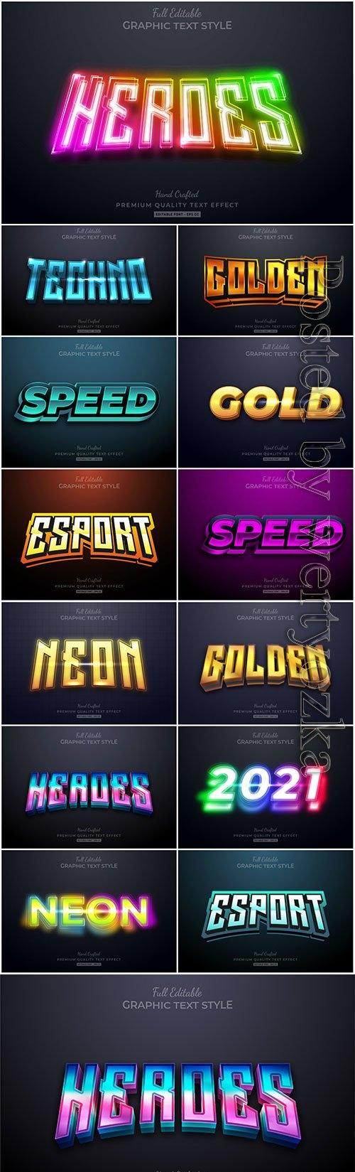 Vector premium text effect