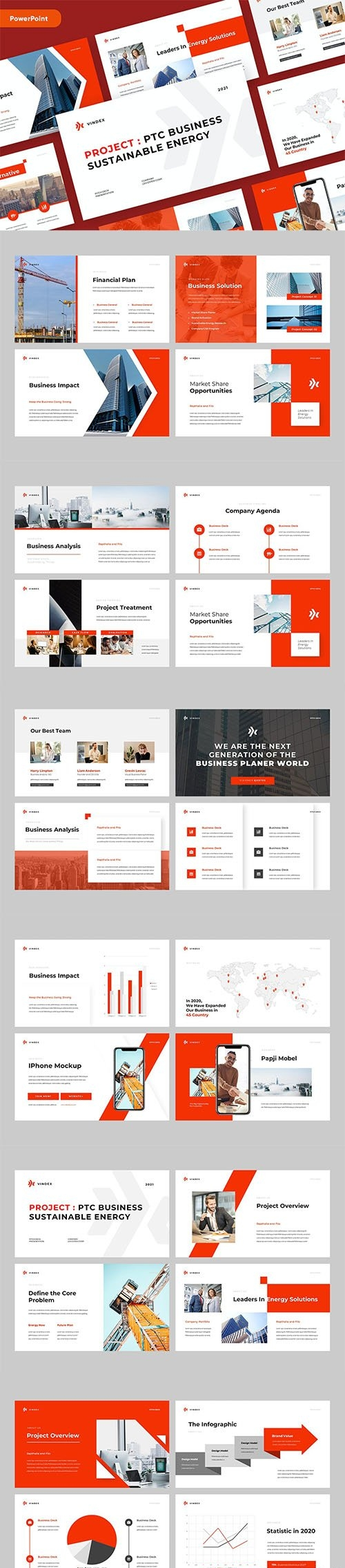 VINDEX - Business Pitch Powerpoint Template