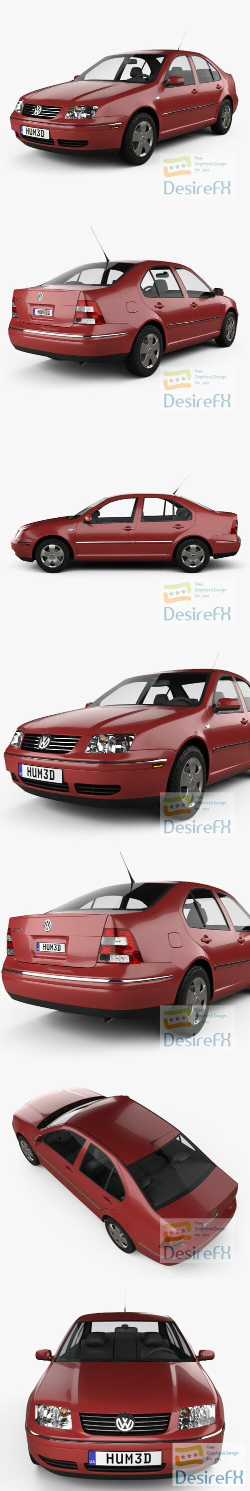 Volkswagen Jetta Sedan 2003 3D Model
