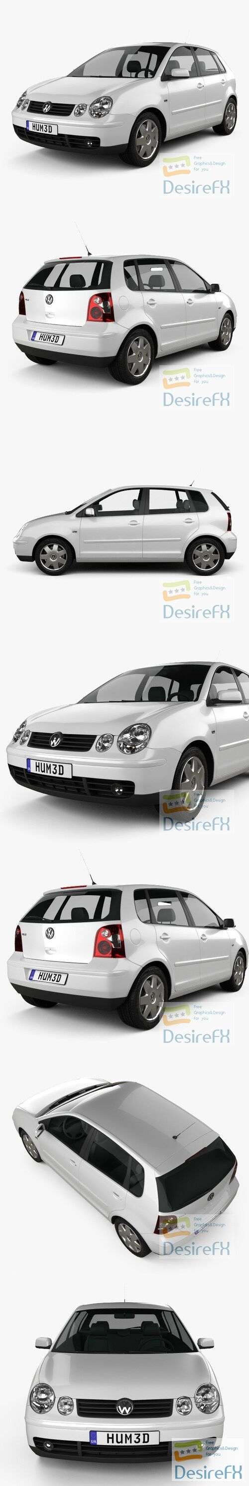 Volkswagen Polo 5-door 2001 3D Model