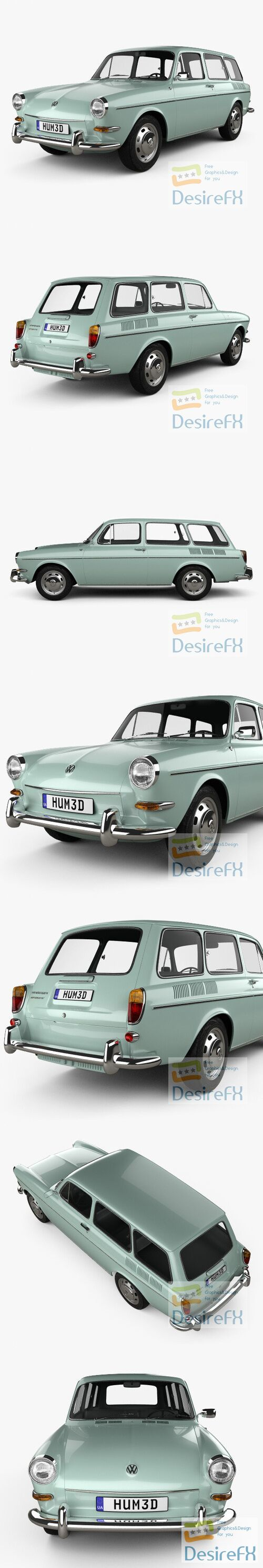 Volkswagen Type 3 1600 variant 1965 3D Model