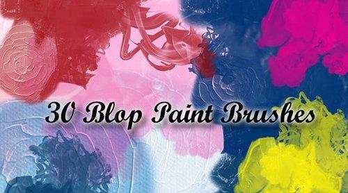 30 Blop Paint Brushes