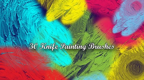 30 Knife Painting Brushes