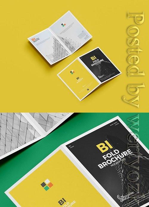 A4 Bi-Fold Brochure Mockup PSD