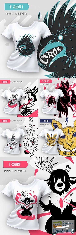 Abstract modern t-shirt print design